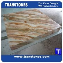 Golden Spray Solid Surface Marble Table Tops,Cafe Desk Interior Furniture Manufacturer,Artificial Marble Customzied Color