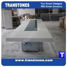 Modern Design Artificial Marble White Acrylic Conference Table, Glass Stone Meeting Table Sets,Solid Surface Work Top,Interior Stone Furniture
