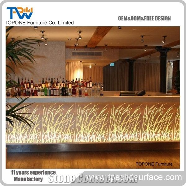 2017 China Factory Oem Artificial Marble Stone Led Lighted