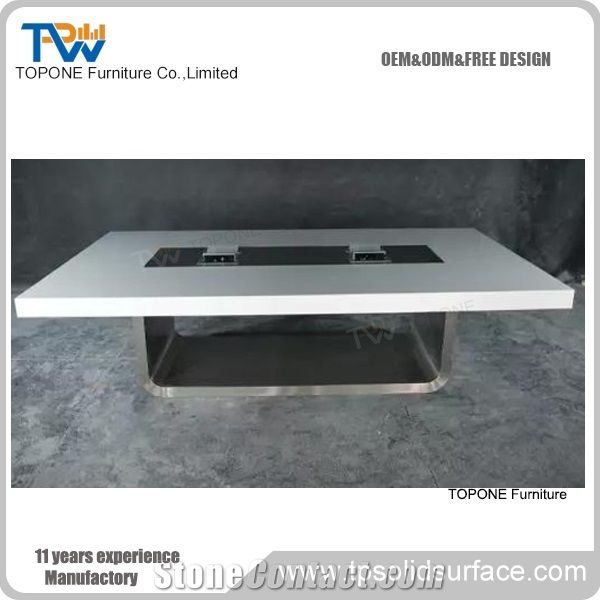 Wholesale China Factory Artificial Marble Stone Conference Table For - 8 person conference table