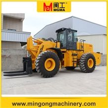 28t Stone Block Handler Forklift Wheel Loader Mgm975 for Blocks Used in Quarry and Storage Yard