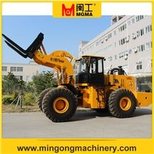 Stone Block Handler Forklift Wheel Loader Mgm971 Capacity 26 Tons Used in Quarry
