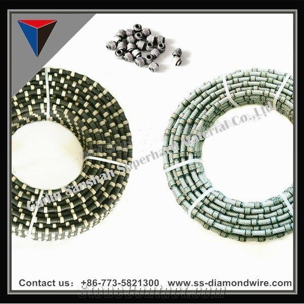 Plastic Diamond Beads Diamond Rope Cutting Beads for Marble