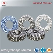 7.3mm High Strength Plastic Multi-Wire Saw for Granite Slab Cutting 8.8mm Solo Cutting Diamond Wire for Granite Dressing