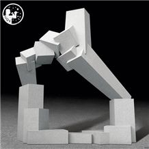 Granite G633,The Statues Which Shows Olympic Spirit,Creativity,Campus Gymnasium Sport Hall Decoration Sculpture,Custom Western Design,Abstract Art
