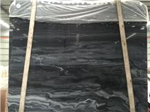 Hilton Black Big Slabs, Grey Stripe with Black Marble, Use for Floor, Wall and Pool Covering, Polished, Honed,Swan Cut