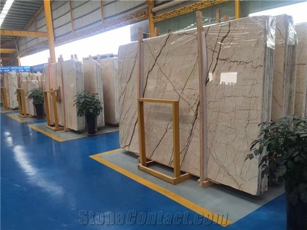Sofitel Gold Polished Marble Slabs Tiles Turkey Golden River