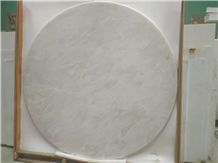 White Onyx, Ice Flake Jade Onyx Table Top, Kitchen Table Top, Natural White Onyx Round Counterops Table Tops
