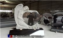 Angel Heastone,Grey,Black,Red, India Black Granite Monument & Tombstone