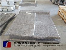 G664 Granite/Luoyuan Cherry Red/Bainbrook Brown Granite Tombstones