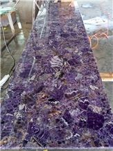 Amethyst Polished Slab for Kitchen Counter Top and Wall Decoration