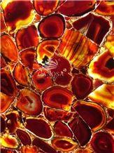 Wholde Sale Red Agate Big Polished Slabs for Interior Decoration