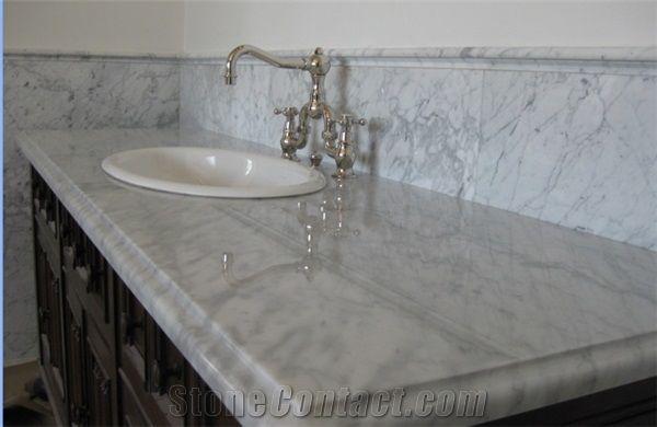 Bianco Carrara White Marble Bath Top Bathroom Countertop