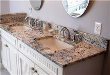 Blue Ice Granite Bench Top Bath Top, Vanity Top for Hotel Interior Stone Decor-Gofar Stone