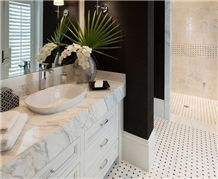 Calacatta Gold Marble Cut to Size Bathroom Counters Design Modern Style Vanity Top,Bath Top