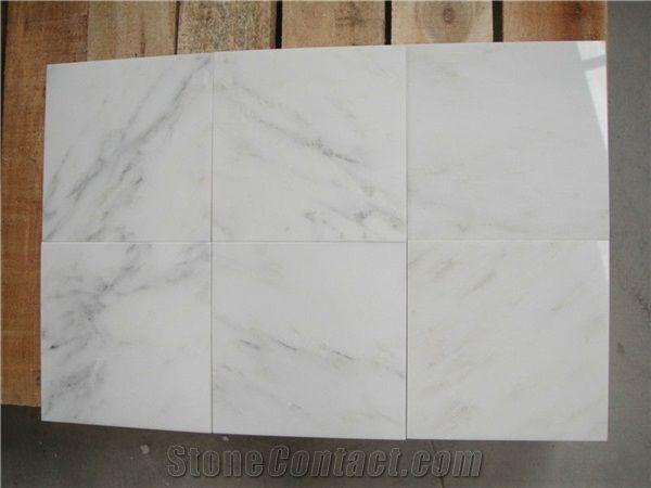 Bianco Carrara Vein Cut Tiles Wall