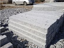 Factory Price G603 Road Garden Palisade, Sesame Grey Granite Driveway Floor Pillars Paving Stone Exterior Stone-Gofar