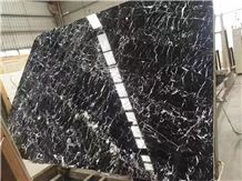 Oriental Black Nero Marquina Marble Tiles Slab,,Mosa Classic Marble Cut to Size for Villa Interior Wall Cladding,Hotel Floor Covering Skirting Pattern & Countertops-Gofar
