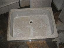 Polished G681 Shrimp Pink Granite Rectangle Sink,Sunset Red Granite Farm Sink/Wild Rose Granite Panel/Rosa Pesco Granite Basin-Gofar