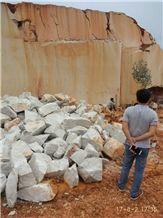 Quarry Owner Caesar Grey Marble Natural Split Face Garden Rock, Ocean Ash Markuni Beige Marble Boulders for Building Castal Wall Exterior Cladding Panel