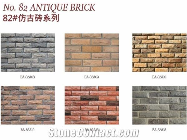 Fire Resistant Brick Wall Panel Decorative Veneer From