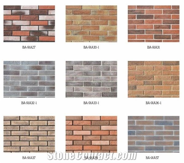 Flat Cultured Rock Stone Type Exterior Brick Panel Wall Siding