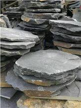 China Black Slate Stepping Stone,Riven Split Natural Stone Paver,Floor Tile for Walkway,Cultured Stone Cheap Price with Ce and Own Quarry