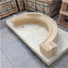 Chinese Gold Color Sandstone Window Sills Window Frame