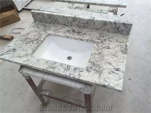 Brazil Ice Granite Bathroom Countertops And White Custom Bathroom Custom Custom Bathroom Countertops