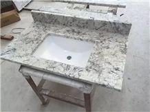 Brazil Ice Granite Bathroom Countertops and White Custom Bathroom Vanity Tops