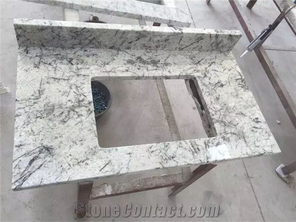 Brazil Ice Granite Bathroom Countertops And White Custom Bathroom Cool Custom Bathroom Countertops