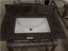 Caladonia Green Granite Custom Bathroom Countertops Vanity Tops with Basin