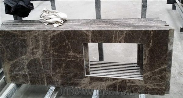 Dark Emperador Marble Custom Bathroom Countertops Vanity Tops From Interesting Custom Bathroom Countertops