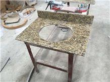 Giallo Ornamental Gold Granite Bathroom Countertops Custom Vanity Tops