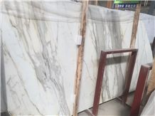 Italian Calacatta Gold Marble with Grey Veins and Gold Veins for Floor Tiles