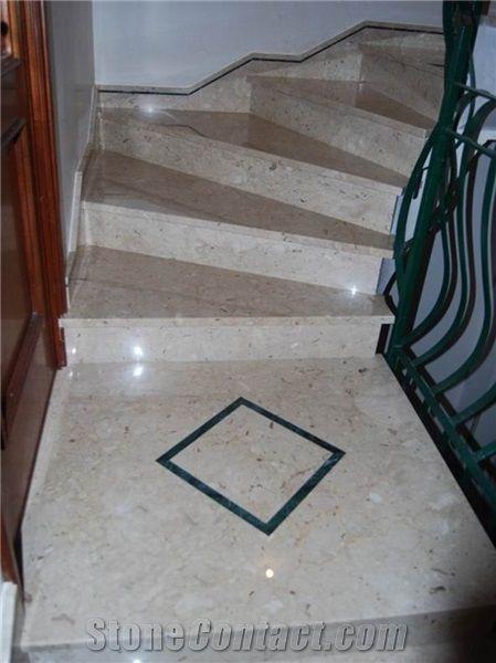 Perfect Natural Marble Stone Perlato Sicilia Marble Stair Treads