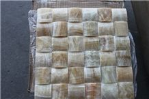Polished Mosaic Honey Onyx Wall Mosaic