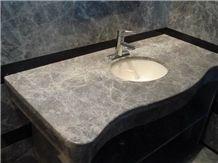 Silver Ermine Marble Bathroom Vanity Top