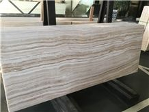 Straight Veins White Onyx Slabs Floor Tiles, Onyx Jumbo Pattern