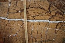 Wall Decoration Fancy Browm Marble, Rain Forest Brown Marble, India Bidasar Marble Wall
