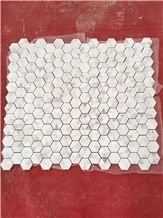White Marble Polished Mosaic Pattern & Floor Wall Mosaic