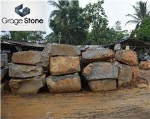 Andesite Stone Flamed Slabs & Tiles, Indonesia Grey Basalt Slabs & Tiles