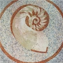 Nautilus Mosaic Floor Pattern