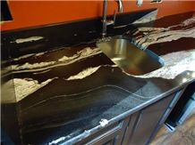Copa Cabana Granite Kitchen Countertop, Brazil Exotic Copacabana Granite Custom Perimeter Top