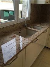 Shivakasi Ivory Granite Kitchen Work Top, Counter Top