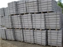 Cheap Price Grey Stone, G375 Granite, Rushan Grey Granite, Flamed Granite Paving Stone, Kerbstones, Curbstone, Paving Sets, China Natural Stone