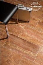 Travertino Rojo Imperial Floor Tiles, Honed Filled