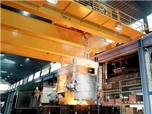 High Working Grade Customized Foundry Bridge Crane for Steel Casting Use