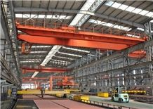Slewing Telescopic Electromagnetic Overhead Crane with Carrier-Beam