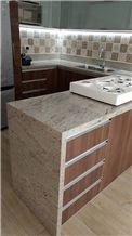 Marfil Cielo Granite Kitchen Countertop